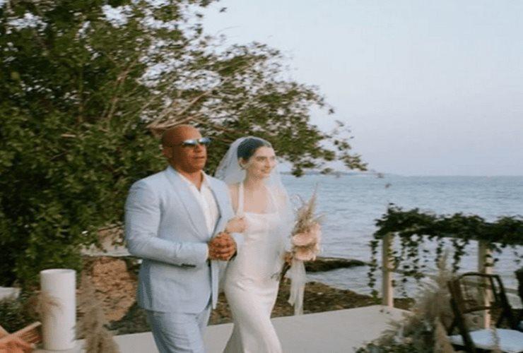 Vin Diesel entrega en el altar a Meadow, hija de Paul Walker